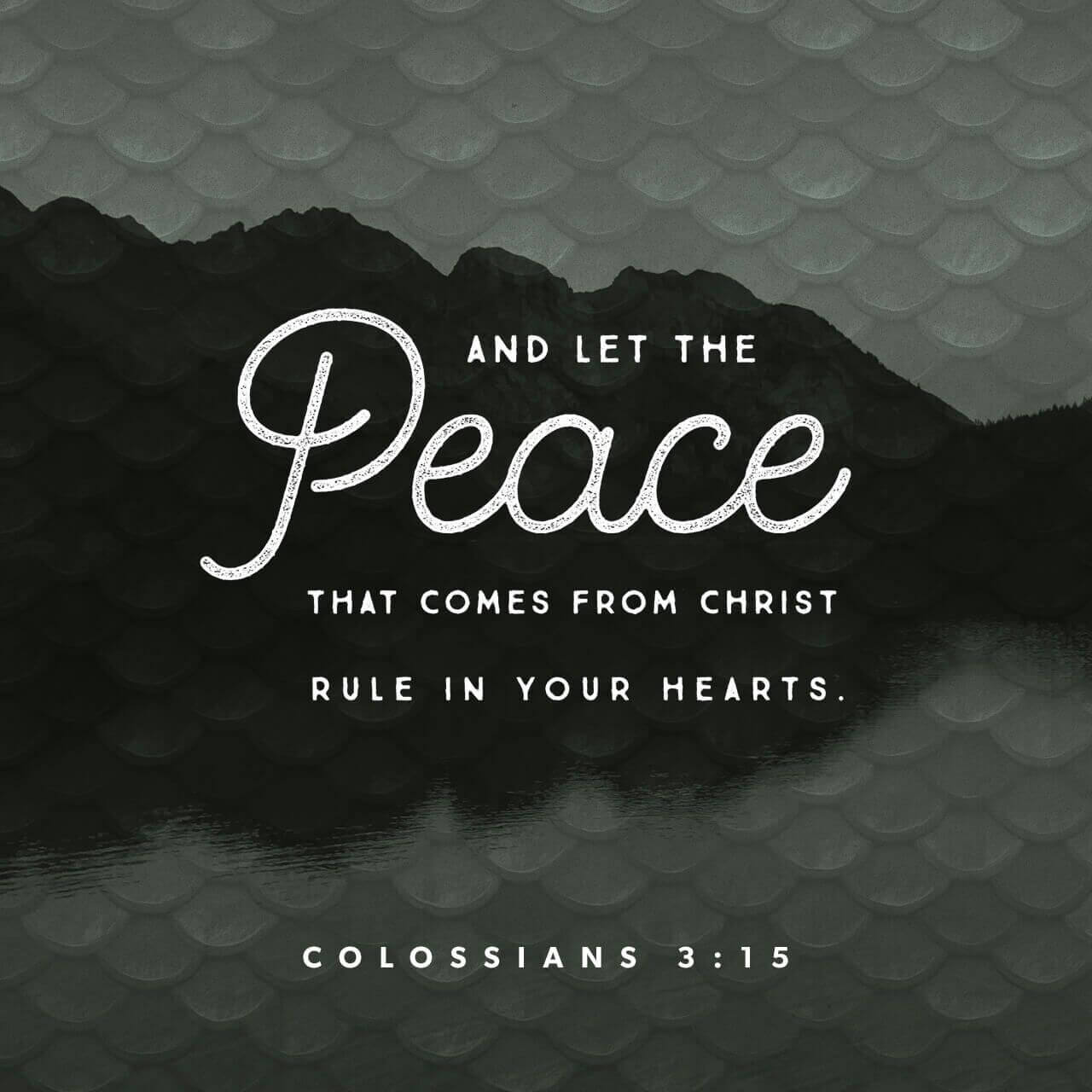 Colossians 3:15--God's Peace